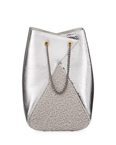 Mani Metallic Leather Bucket Bag
