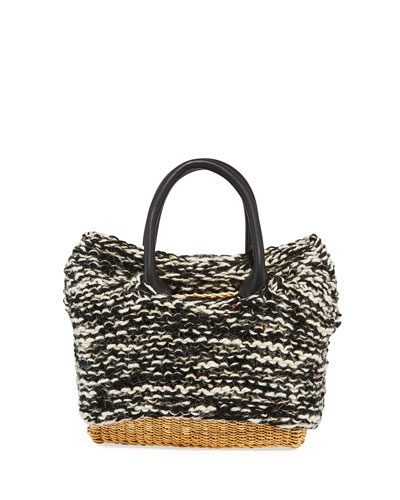 Charles Knit Woven Top Handle Bag