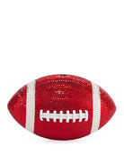 Judith Leiber Couture Game Ball Football Crystal Clutch