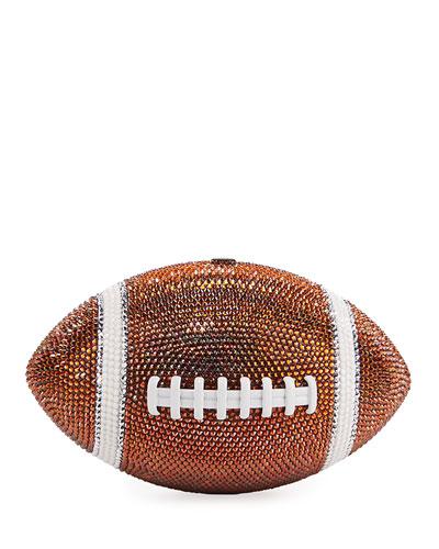 Crystal Game Ball Clutch Bag, Orange/White