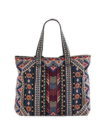 Nemita Embroidered Everyday Cotton Canvas Tote Bag