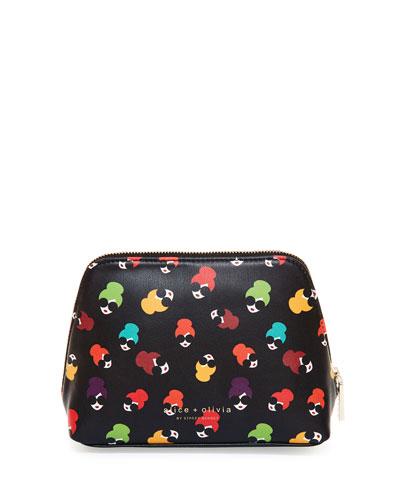 Nikki Printed Cosmetics Case Bag