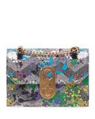 Christian Louboutin Elisa Small Paillette Splash Shoulder Bag