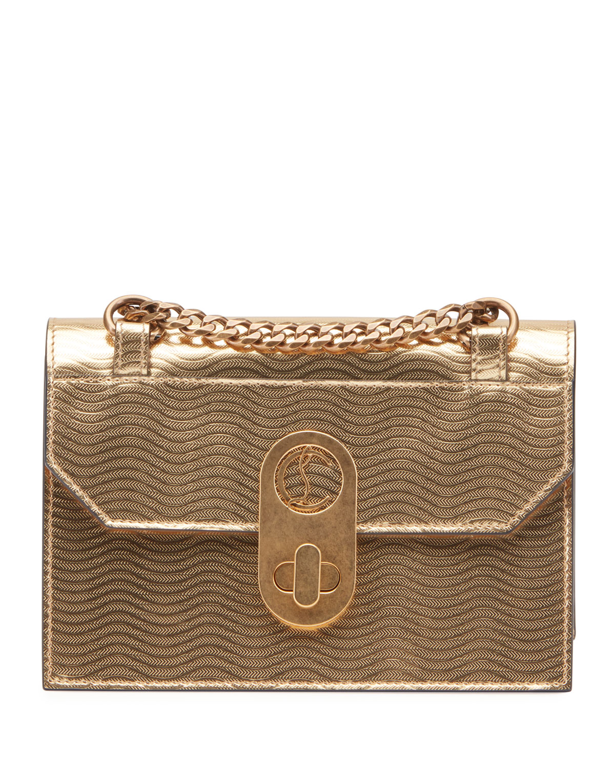 Christian Louboutin Shoulder ELISA MINI CALF GOURMETTE SHOULDER BAG