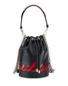 Christian Louboutin Marie Jane Leather Logo Bucket Bag