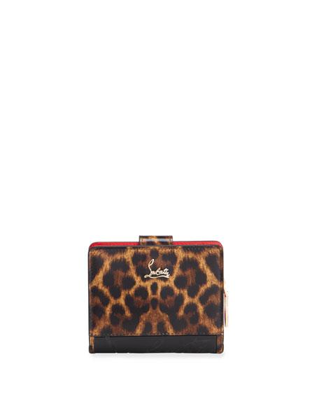 Christian Louboutin Paloma Mini 50s Sole Leopard Wallet