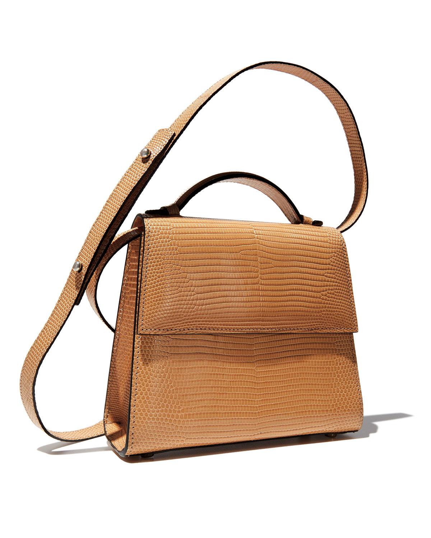 Medium Lizard Top-Handle Bag