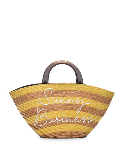 Striped 'Sunny Business' Tote Bag