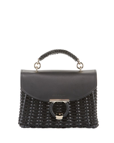 Margot Gancio Vela Soft Cord Satchel Bag