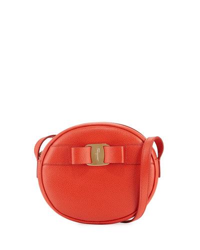 Vara Bow Round Zip Crossbody Bag