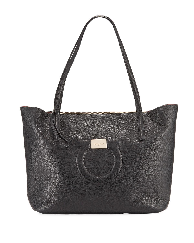 City Medium Leather Shoulder Tote Bag