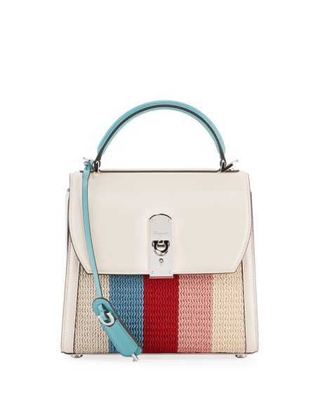 Salvatore Ferragamo Boxyz Knitted Bag