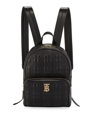 TB Quilted Leather Backpack