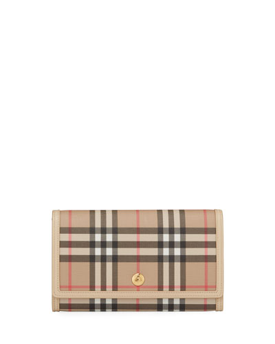 Hanna Vintage Check Crossbody Wallet Bag