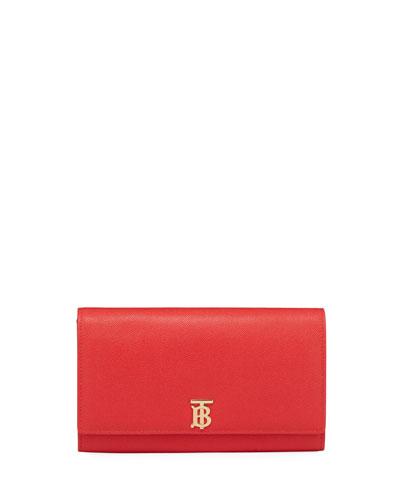 Hannah Grainy Crossbody Bag, Bright Red