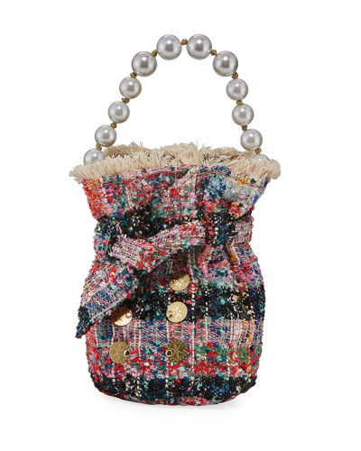 Charlotte Tweed Pouch Bag