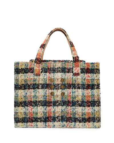 Tweed Book Tote Bag