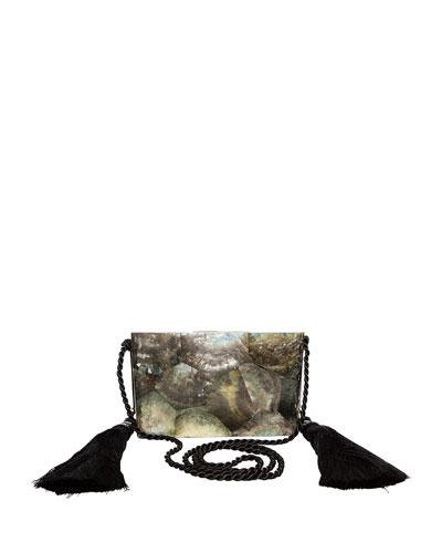 Chriselle Tassel Minaudiere Clutch Bag