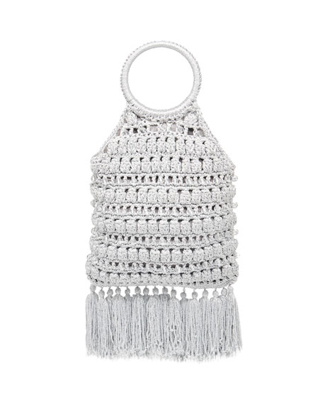 Rafe Sara Ring-Handle Macrame Tassel Bag