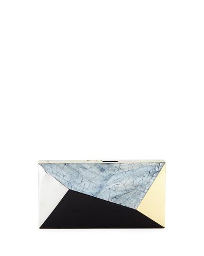 Melissa Rectangular Shell Minaudiere Clutch Bag
