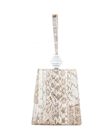 Rafe Vania Snake Wristlet Clutch Bag