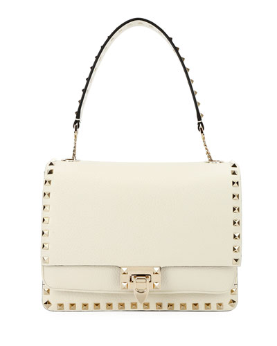 Rockstud Vitello Alce Box Shoulder Bag