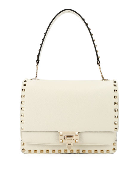 Valentino Garavani Rockstud Vitello Alce Box Shoulder Bag