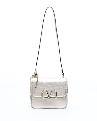 VSLING Small Metallic Vitello Shoulder Bag