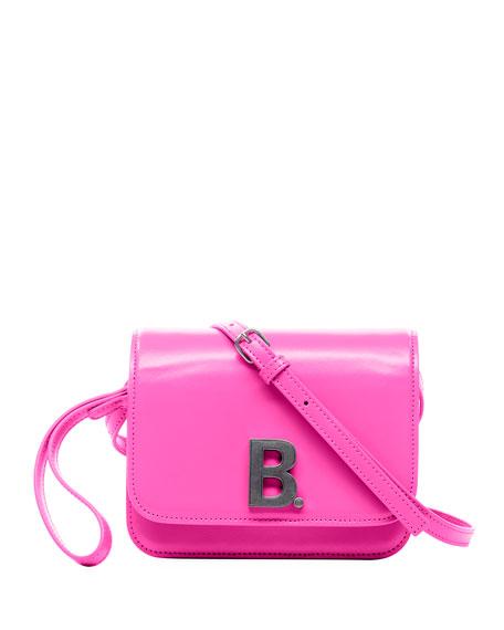 Balenciaga B Bag Small Shiny Box Calf Crossbody Bag