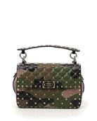 Valentino Garavani Rockstud Camo-Print Leather Shoulder Bag