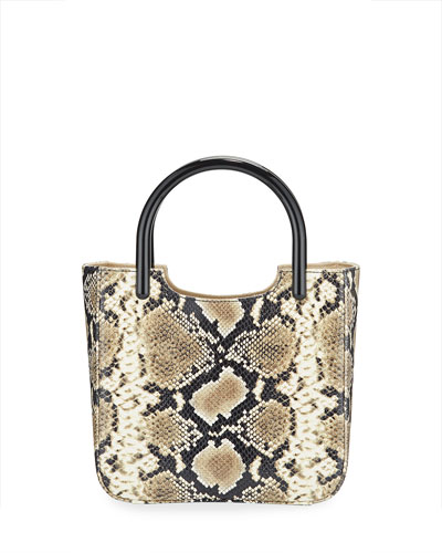 Eric Snake-Embossed Leather Tote Bag