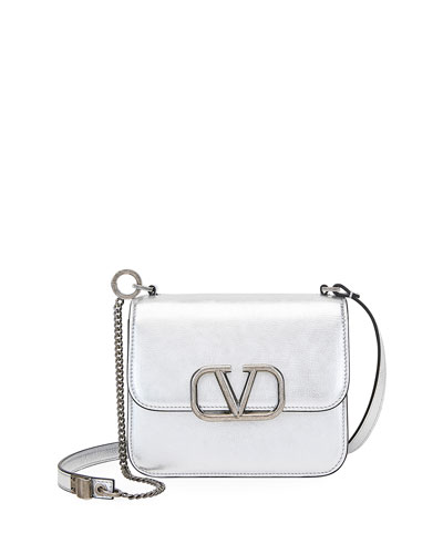 VSLING Small Crackle Metallic Shoulder Bag