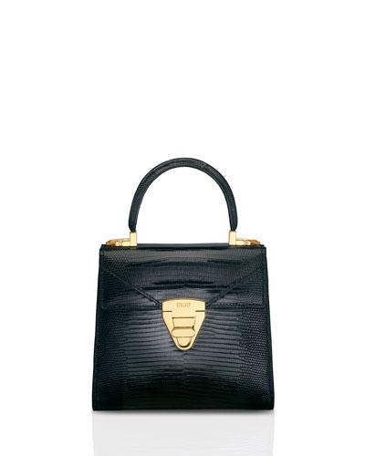 Mini Trapezoid Lizard Top Handle Bag
