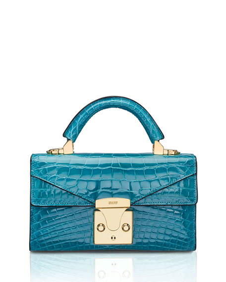 STALVEY Mini Crocodile Top-Handle Bag
