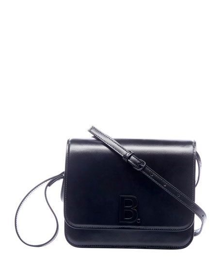 Balenciaga B Medium Shiny Box Calf Bag