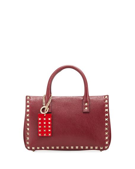 Valentino Garavani Rockstud Small Buffalo Lux Karung Top-Handle Shoulder Bag