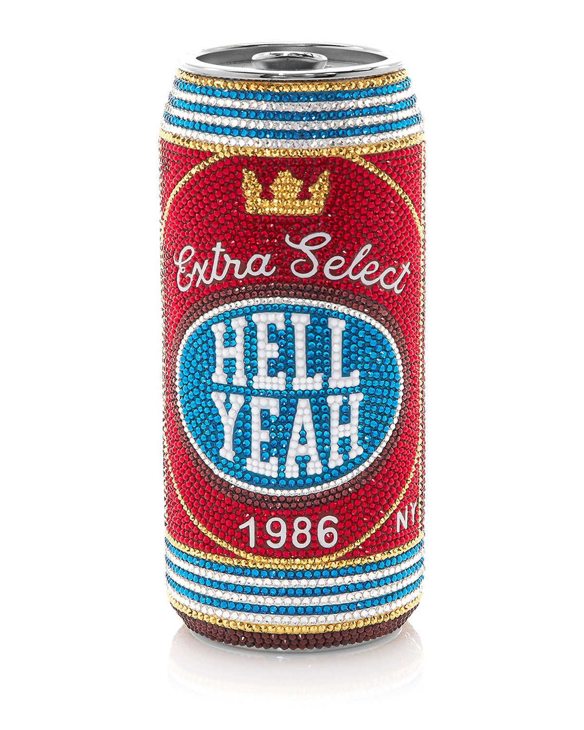 Judith Leiber Bags HELL YEAH BEVERAGE CAN PILL BOX