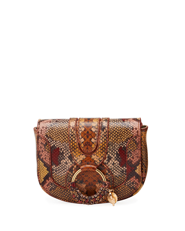 See By Chloé Shoulder bags HANA MINI PYTHON-PRINT SHOULDER BAG