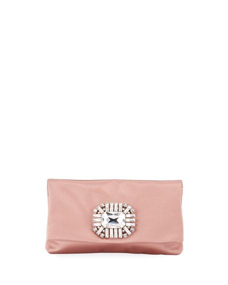 Jimmy Choo Titania Satin Clutch Bag