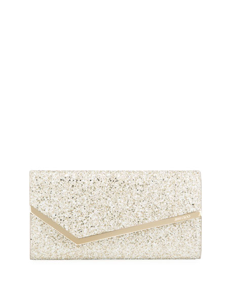 Jimmy Choo Erica Infinity Glitter Fabric Clutch Bag