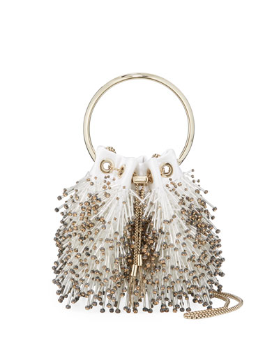 Bon Bon Fringed Bead Embroidered Bag
