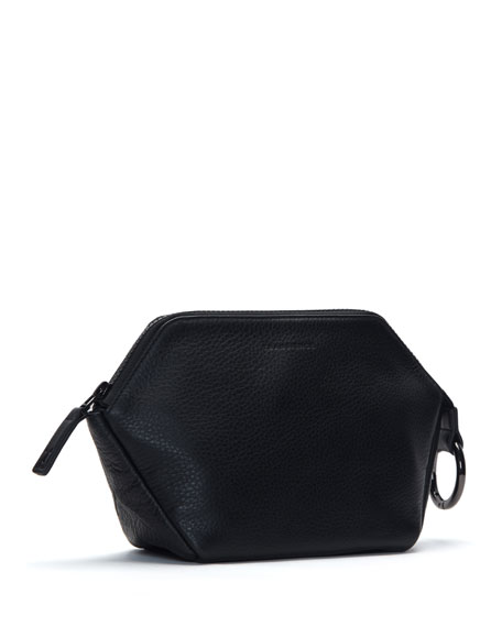 Transience Zip-Top Leather Cosmetics Bag