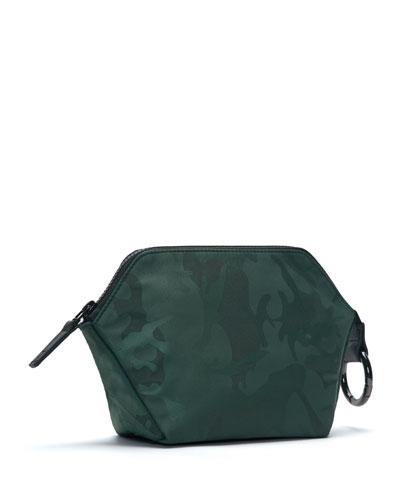 Zip-Top Camo-Print Cosmetics Bag