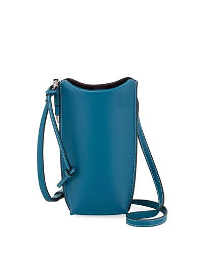 Gate Pocket Classic Calf Leather Bucket Bag
