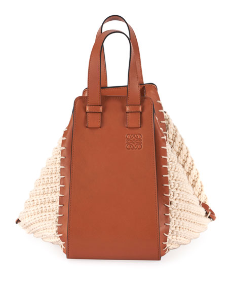 Loewe Hammock Small Cotton Knit Shoulder Bag