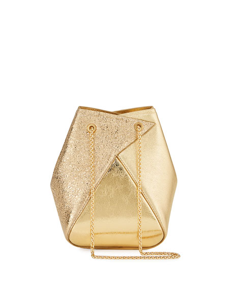 The Volon Mani Mini Metallic Bucket Bag