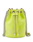 Christian Louboutin Marie Jane Crystal-Studded Suede Bucket Bag