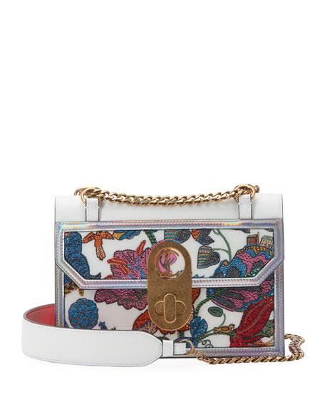Christian Louboutin Elisa Embroidered Shoulder Bag