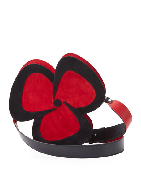 Christian Louboutin Pensee Clutch Suede Suede Bag