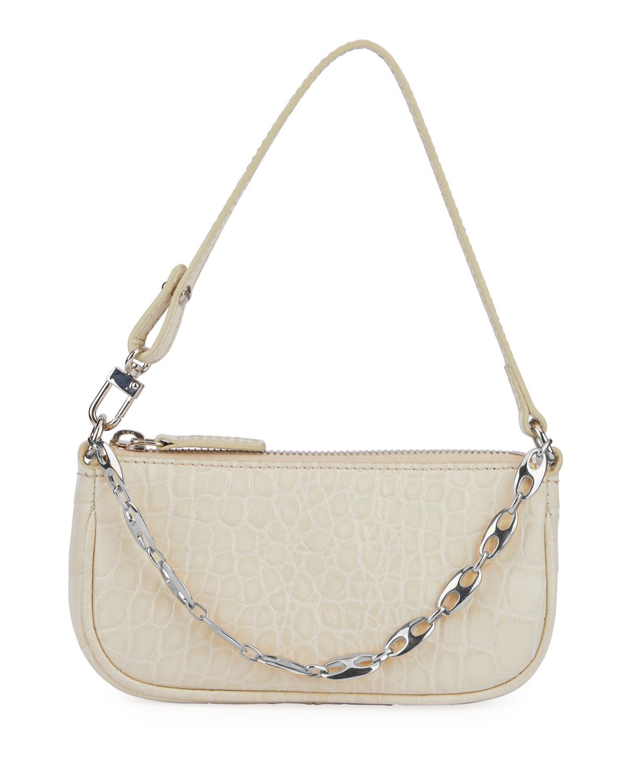 Mini Rachel Mock Croc Leather Shoulder Bag